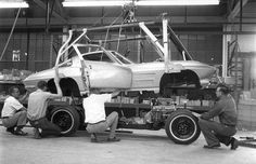 Our Throwback Thursday this week features photos showing the assembly of one of the first 1963 Corvette Pilot Builds at the St. Louis assembly plant.