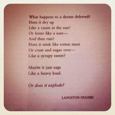 A Raisin in the Sun by Langston Hughes