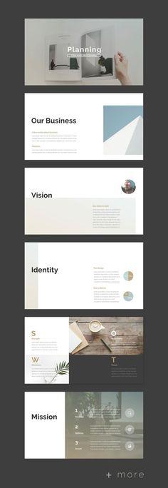 Planner PowerPoint Template - Keynote - Ideas of Keynote - Simple Planner Presentation Template Modelo Portfolio, Mise En Page Portfolio, Portfolio Design, Business Plan Presentation, Presentation Layout, Presentation Templates, Company Presentation, Project Presentation, Presentation Slides