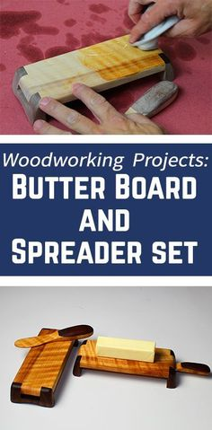 DIY Butter Dish and Spreader Set | WWGOA #woodworkingforbeginners