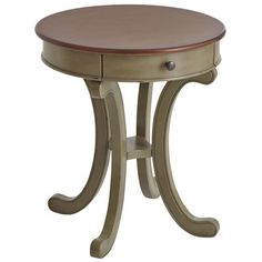 Inspired by a French Country aesthetic, our Marchella accent table is finished, glazed and distressed by hand, giving it the rustic yet sophisticated character that makes this style a perennial favorite. Offers a drawer for convenient storage, and coordinates beautifully with our Marchella Dining Table (sold separately) or your own eclectic mix of furnishings. It's the perfect size for placing next to a couch, armchair or bed, and it works great as a planter stand, too.