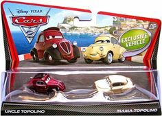 Mattel Cars 2 Character 2-Pack W6702 (Assorted) by Mattel. $16.99. Comes in Assortment. Sorry, online customers may not pre-select characters. Cars 2 vehicles are shipped randomly from warehouse. Double your racing fun with an assortment of 1 - 55 scale die-cast vehicles featuring teams of two characters who share key scenes in the Disney Pixar film, Cars 2. Every pack includes an exclusive vehicle only available in the Cars 2 Character 2-Pack Assortment. Ages 3 year...