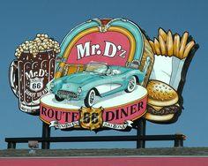 Mr. D'z  Route 66 Diner by cobalt123, via Flickr