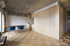 "Ascetic apartment in Tokyo with ""wooden box""    Аскетичная квартира в Токио"