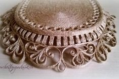 Поднос для завтрака Sisal, Quilling, Jute Crafts, Recycling, Decorative Boxes, Craft, Jute, Organize, Home