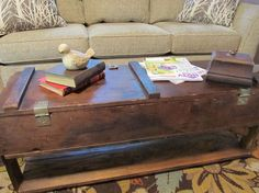Have You Ever Wondered What to Do With an Old Box/crate? - I had this old box, perhaps it's an ammo or rifle crate? I upcycled/repurposed it into a chic coffee…