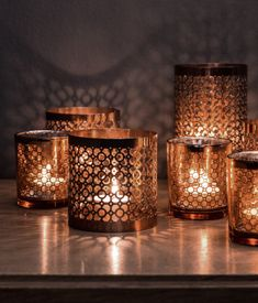 Copper Tea Light Holder at H Home
