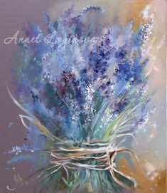 Original Floral Painting by Annet Loginova Soft Pastel Art, Pastel Artwork, Pastel Drawing, Lavendar Painting, Watercolor Flowers, Watercolor Paintings, Floral Paintings, Modern Art Paintings, Botanical Art