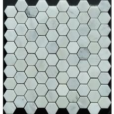 1-1/4X1-1/4 Novecento White Hexagon Mosaic