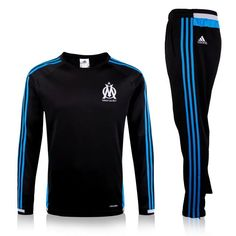 Marseille 2015/16 Champions League Black Men Tracksuit Slim Fit
