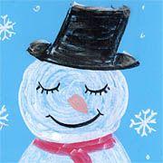 Der zufriedene Schneemann