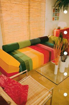 70's living room. The theme from HR Pufnstuf automatically started playing in my head, just seeing this