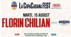 Florin Chilian in concert la CopaCabana - Eveniment prezentat de Stalinskaya Blue Premium Vodka Marti 15 august.  Iubi a zis ca vrea la mare, așa că jupânul Florin Chilian s-a conformat și vine pe terasa La CopaCabana in 2 mai.  Eveniment prezentat de Stalinskaya Blue Premium Vodka.