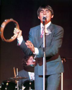 Davy Jones and Micky Dolenz Perform during the Monkees 1968 Japan Tour