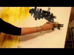 MONITOR | Gabriela Mensaque reliza un cuadro abstracto | Manos a la Obra - YouTube
