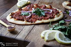 "Recipe: Turkish Flatbread ""Pizza"" with Spiced Lamb 