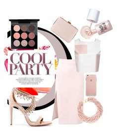 Party time by maki007 on Polyvore featuring polyvore fashion style W.S. Studio MSGM Aquazzura Monsoon Kenneth Jay Lane MAC Cosmetics Benefit clothing