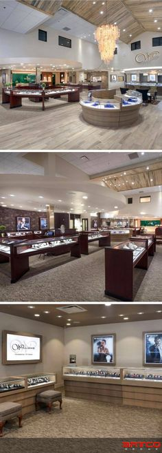 Manufacture & Design of Store Fixtures by Artco Group. #MadeinUSA #RetailDesign #StoreDesign #RetailInterior #Jewelers Jewelry Store Design, Jewelry Stores, Store Fixtures, Retail Interior, Retail Design, Jewels, Group, Houses, Bijoux