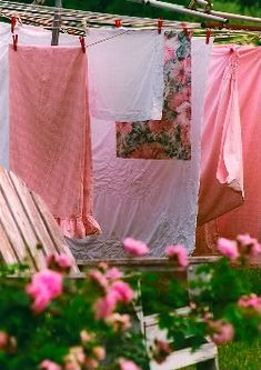 Pink cottage laundry...