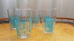 Vintage Swanky Swigs Juice Glasses with by VintageMuseCreations