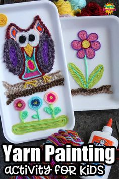 With this Huichol-inspired art process, kids can create a vibrant and unique piece of art, using colourful yarn scraps and glue. #YarnArt #YarnPainting #Huichol #KidsArt #KidsCraft #YarnCraft #ArtForTeens #ArtForTweens #ArtProject #ArtClass
