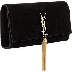 Saint Laurent Monogram Long Clutch ( 1,550) ❤ liked on Polyvore featuring  bags, handbags · Saint Laurent PurseSaint Laurent HandbagsBlack Suede ... 831f0b82c7