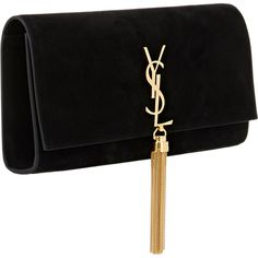 Saint Laurent Monogram Metallic Tassel Clutch Bag ($1,470 ...