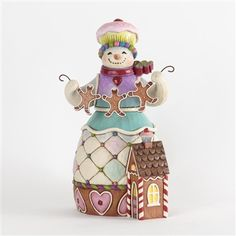 Gingerbread Snowman Figurine - Jim Shore, Heartwood Creek, 4034371