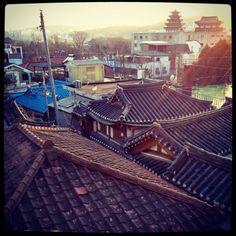 Hanok roofs in korea