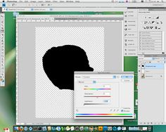 Make a silhouette with Photoshop.