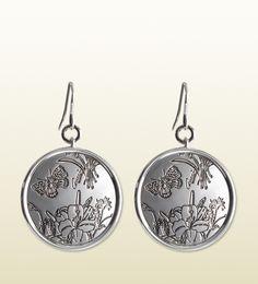 orecchini flora in argento