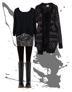 Glitter by baggheera on Polyvore featuring mode, Alice + Olivia, Vero Moda, Givenchy, Stylista Select and Dr. Martens