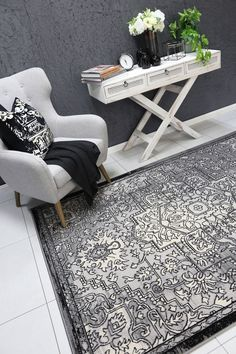 Runiullae Distressed Vintage Light Grey Dark Grey Rug A marvelous exhibit of trendsetting rugs, this Collection instills life into extraordinary spaces. Expertly power-loomed in Turkey, these rugs are easy-care and virtually non-shedding. Classic designs become fashion-smart home decor in this alluring and playful collection.
