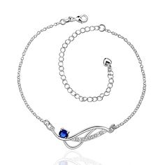 Fine Jewelry Jewelry & Watches 14k Two Tone Gold Diamond Cut Cable Link Puffed Heart Dangle Ankle Bracelet Gift Fashionable And Attractive Packages