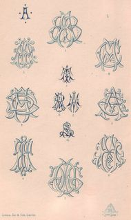 why can't I find great old books on monograms! These are stunning