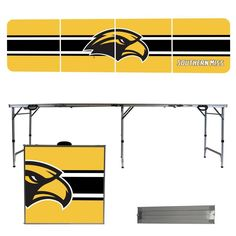University of Southern Mississippi Golden Eagles 8 Foot Portable Tailgate and Pong Table