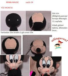 MİNNİ MAUSE TARİFİ Crochet Horse, Crochet Disney, Crochet Stitches, Crochet Projects, Sewing, Mini, Baby, Crochet Mickey Mouse, Crochet Animal Amigurumi