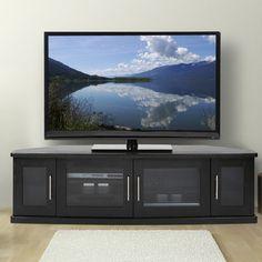 newport62cornertvstandinblackoak amazoncom furniture 62quot industrial wood
