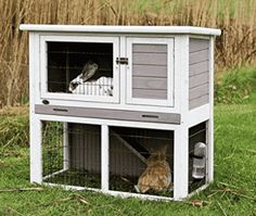 Shop for Lovupet Wooden Rabbit Hutch Small Animal House Pet Cage Coop Blue. Get free delivery On EVERYTHING* Overstock - Your Online Small Animal Supplies Store! Bunny Cages, Rabbit Cages, Metal Lattice, Bunny Hutch, Small Animal Cage, Small Animals, Farm Animals, Rabbit Hutches, Cleaning Wood
