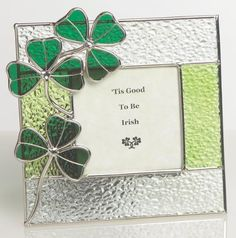 Irish Photo Frame Stained Glass Picture Frame with Shamrock by Banberry Designs, http://www.amazon.com/dp/B004G6Y8AC/ref=cm_sw_r_pi_dp_zVMasb1KGC7XR