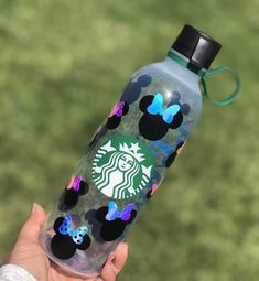 Excited to share this item from my shop: Custom Starbucks Water Bottle Starbucks Crafts, Starbucks Cup Art, Disney Starbucks, Custom Starbucks Cup, Starbucks Logo, Disney Water Bottle, Starbucks Water Bottle, Disney Cups, Disney Diy