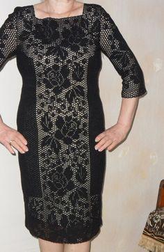 Филейное платье для шикарной дамы