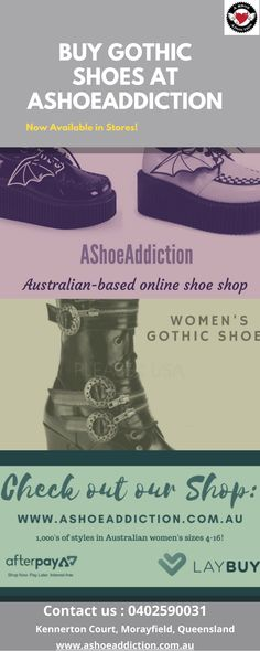Are you looking to buy Gothic shoes online? Ashoeaddiction is one of the best online stores to provide a large selection of goth shoes. Exclusive Styles From Worldwide Goth Stores You Won't Find Anywhere Else. So guys don't waste your time shop today & get 10% off. Womens Gothic Boots, Gothic Shoes, Online Shopping Shoes, Shoes Online, Best Online Stores, Time Shop, Looking To Buy, Guys