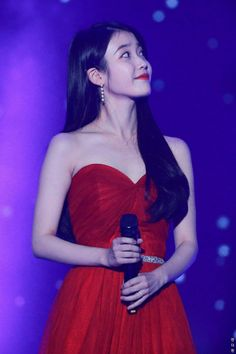 """ in red ❤️❤️❤️"" Korean Model, Korean Singer, Korean Actresses, Korean Actors, Light In, Iu Fashion, Camille, Korean Celebrities, Snsd"