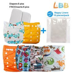 Reusable baby cloth diapers