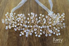 Silver Hairpiece Silver Hair Vine Silver от RosyAccessoriesShop