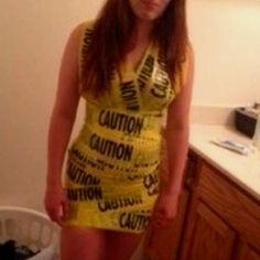 Caution tape anything but clothes