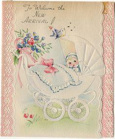 Vintage Baby Card, 1946