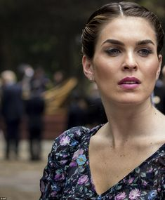 A little extra: Hope also sported a lovely shade of pink lipstick to compliment the floral number