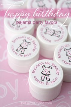 "Sharing special favors at your party is a sweet way to tell your guests ""We're so glad you're celebrating with us!"" Whether it's a birthday or a pajama party, your guests will appreciate these personalized gifts. Click to select your personal details! #pajamaparty, #partyfavors, #birthdayparty, #kidsbirthday Spa Party Decorations, Spa Party Favors, Kids Spa Party, Spa Birthday Parties, Pamper Party, Engagement Party Decorations, Bachelorette Party Favors, Birthday Party Favors, Paris Birthday"